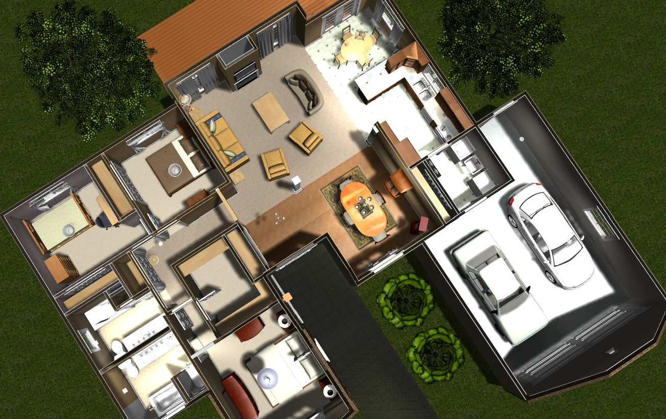 Softplan studio free home design software studio home softplan studio allows placement of walls windows doors decks flooring furniture lighting trees sidewalks patios all the elements needed to create baanklon Gallery